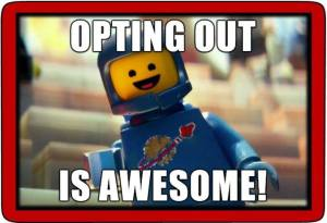 Opt out lego man